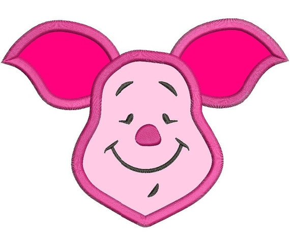 create your own coloring pages with your name - piglet face winnie the pooh applique