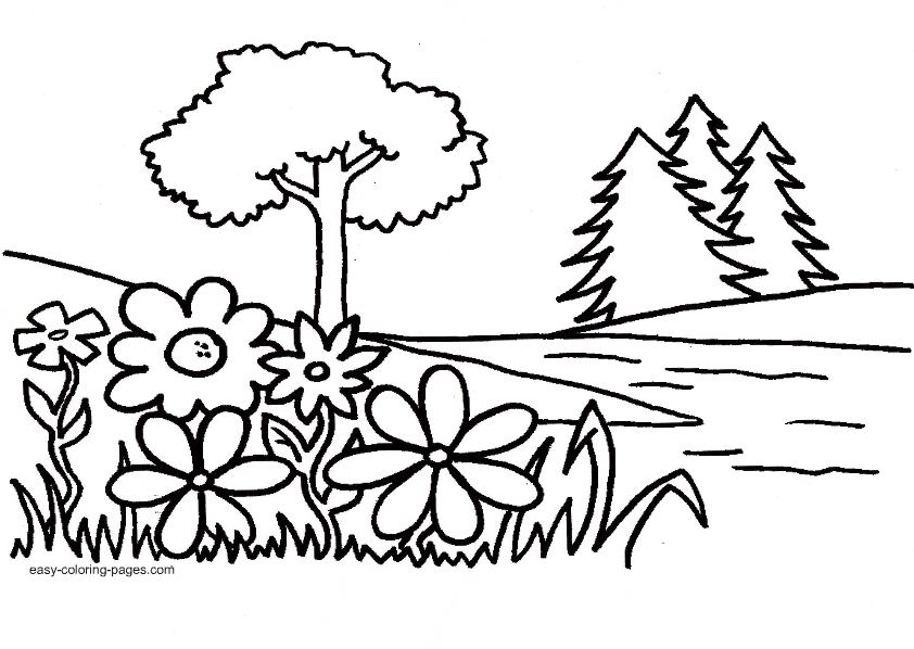creation coloring pages - Garden Eden clipart black and white