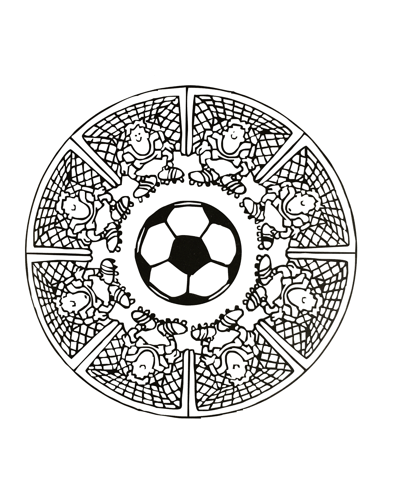 creation coloring pages - image=characters mandalas foot 3
