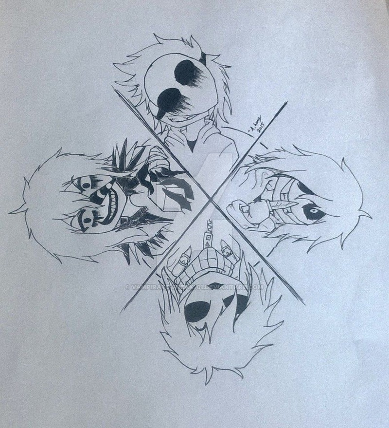creepy coloring pages - Creepypasta Tattoo Design personal
