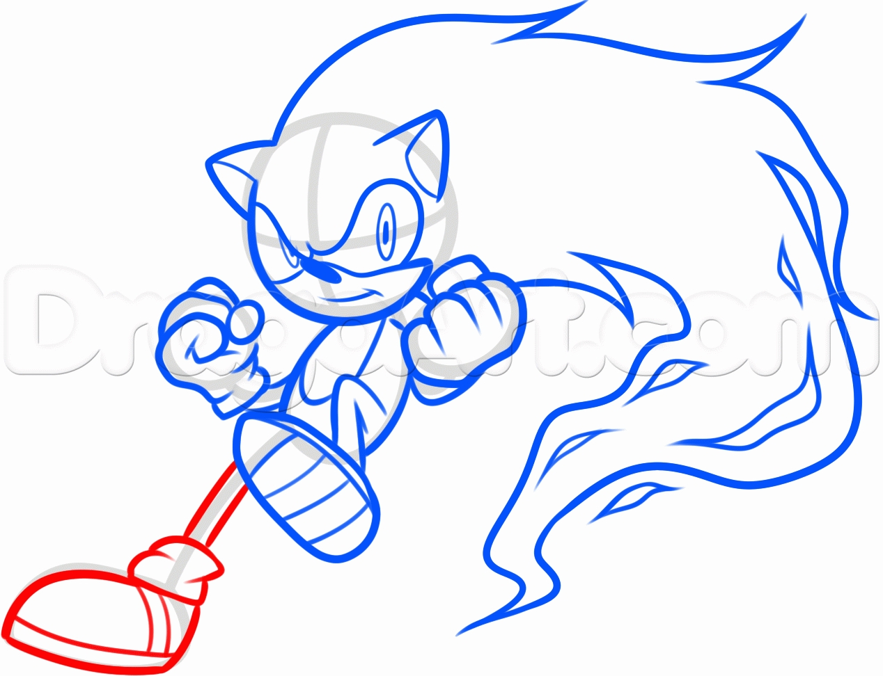 creepypasta coloring pages - how to draw fire sonic