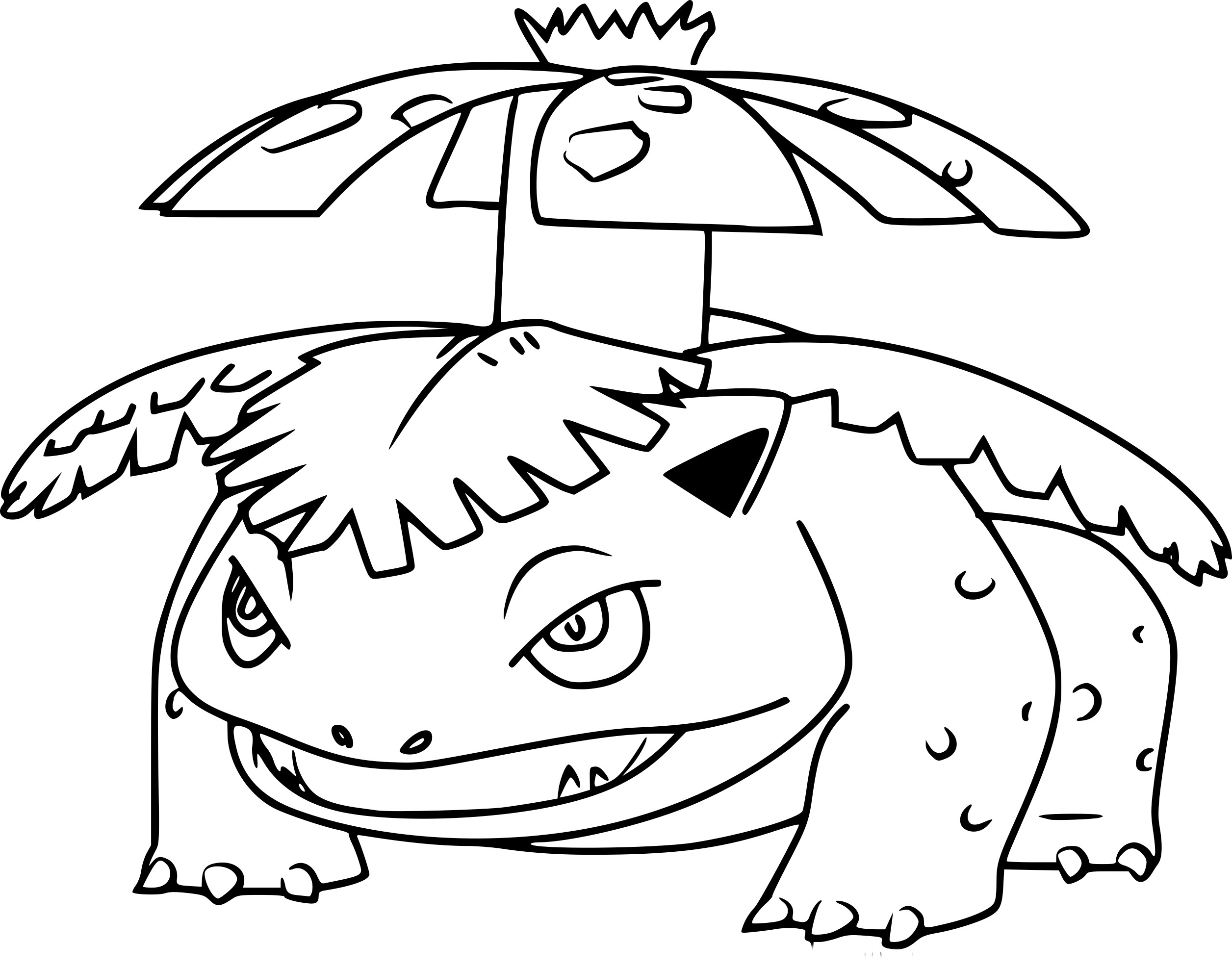 crocodile coloring pages - florizarre pokemon go