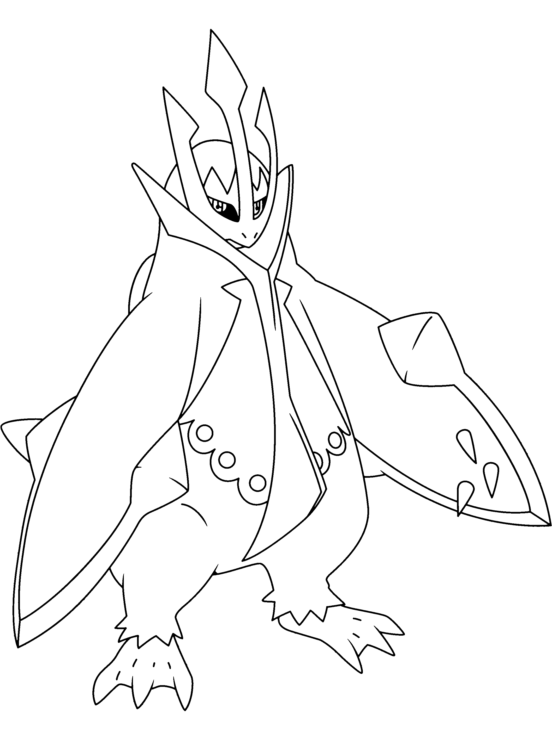 crocodile coloring pages - pingoleon pokemon