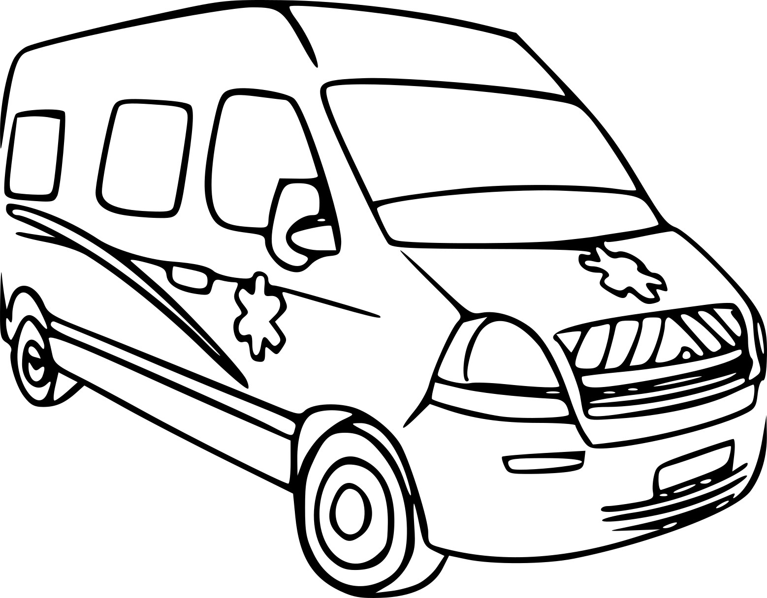 crocodile coloring pages - voiture ambulance
