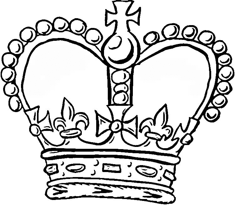 crown coloring page - crown coloring pages