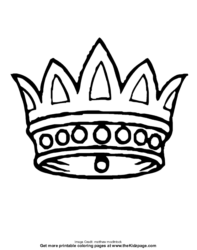 Crown Coloring Page Colouring Pages Princess