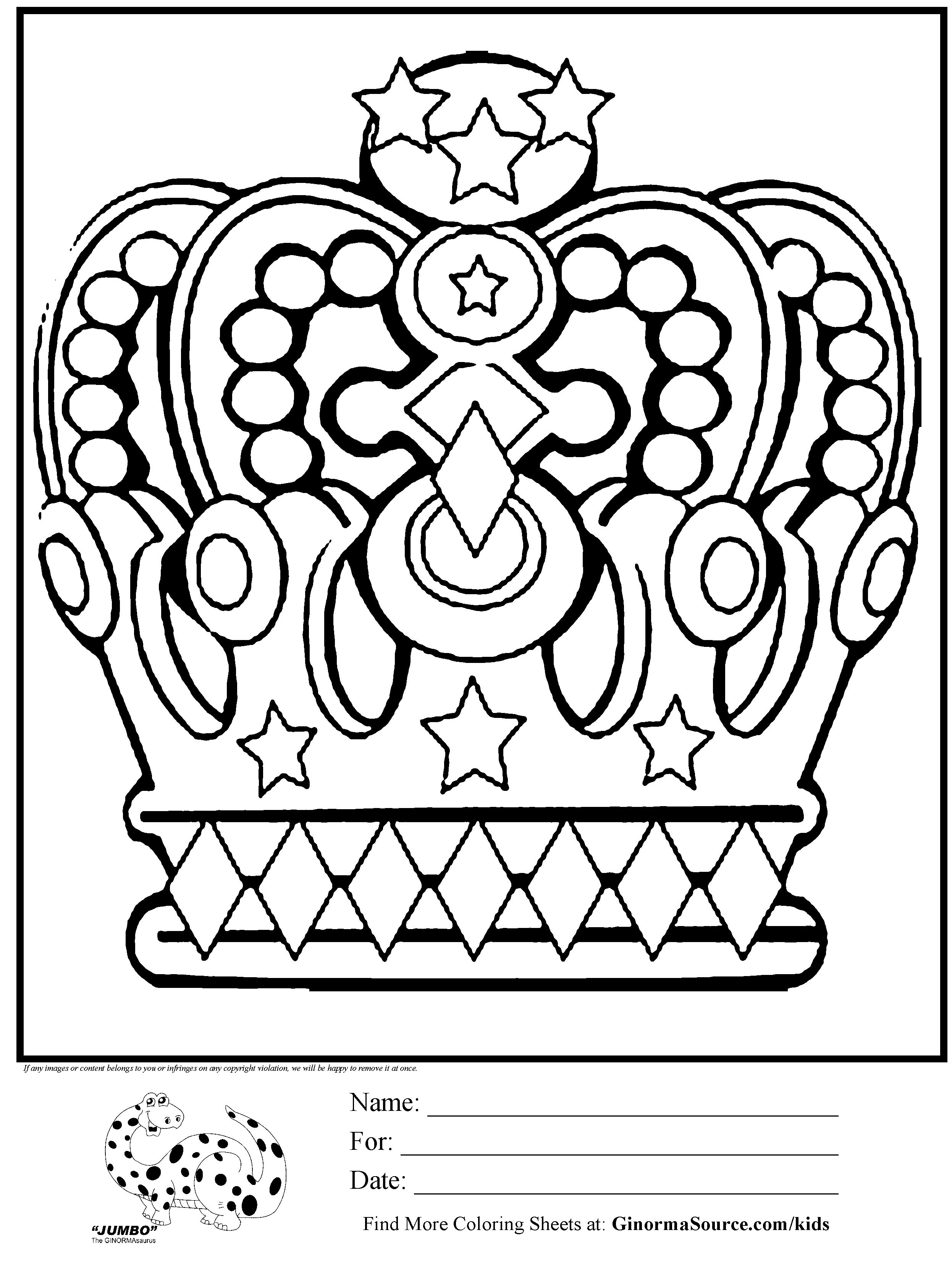 Crown Coloring Page   King Crowns Coloring Pages