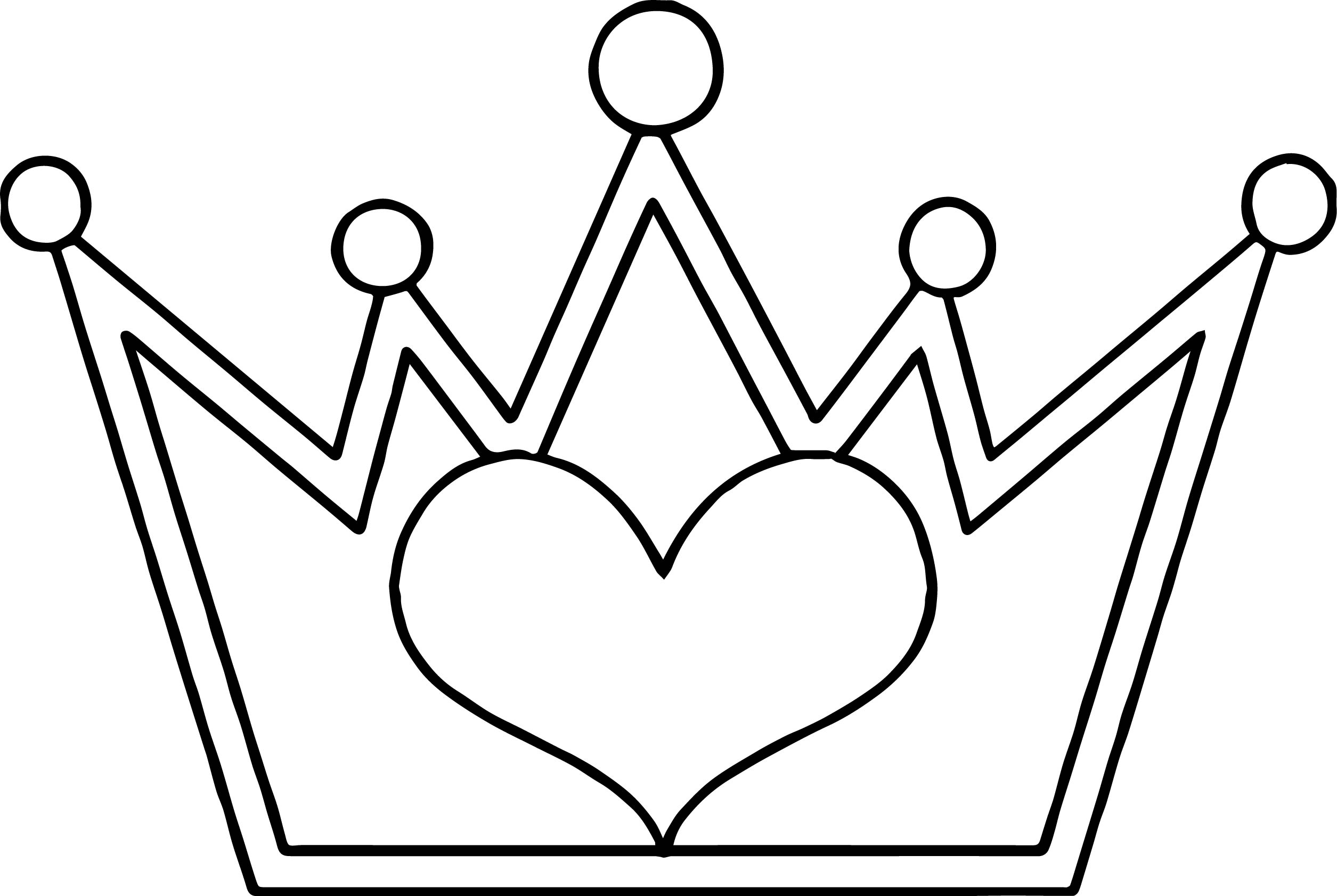 crown coloring page - princess tiara coloring pages