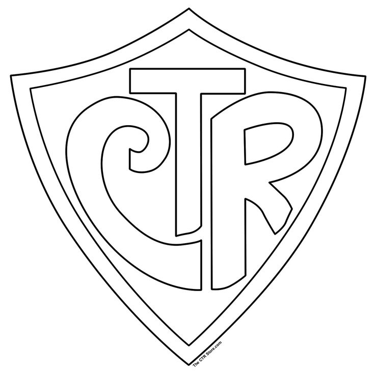 ctr shield coloring page -