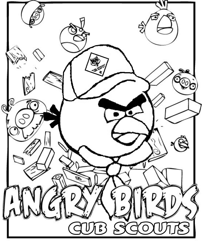 cub scout coloring pages - angry birds coloring page for cub