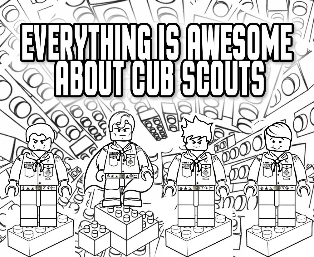 cub scout coloring pages - everything is awesome about cub scouts