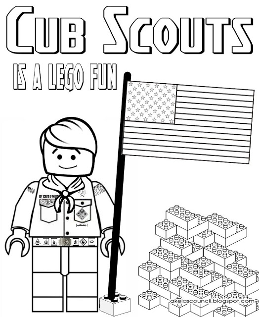 cub scout coloring pages - lego cub scout coloring page great for