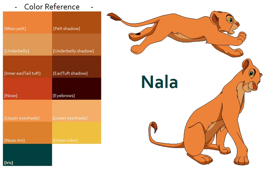 cubs coloring pages - TLK Nala Color Reference