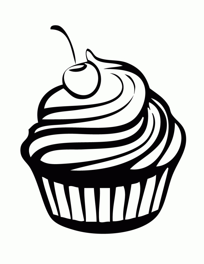cupcake coloring pages - cupcake coloring pages 7
