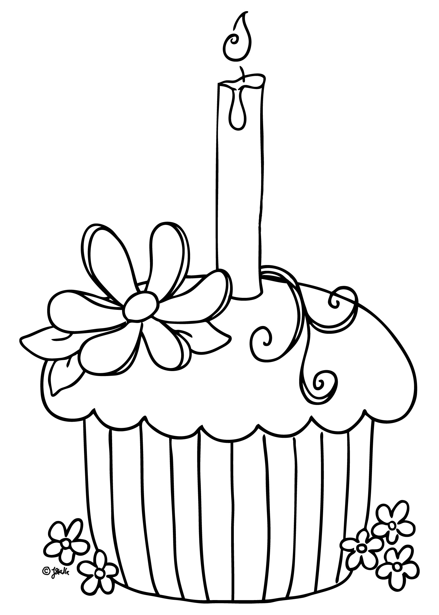 cupcake coloring pages - cupcake coloring pages