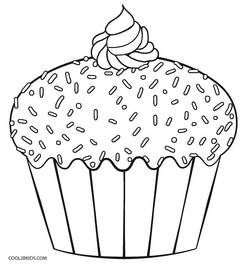 Cupcake Coloring Pages - Free Printable Cupcake Coloring Pages for Kids