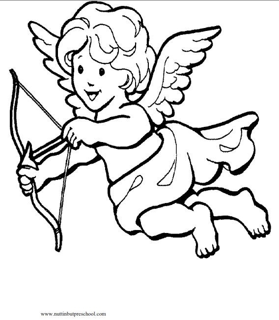 cupid coloring pages - cupid coloring page