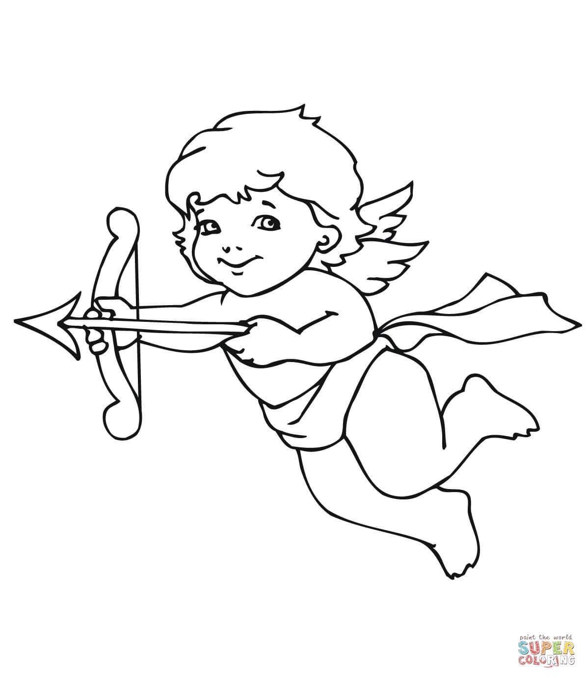 cupid coloring pages - cupid outline coloring pagestml