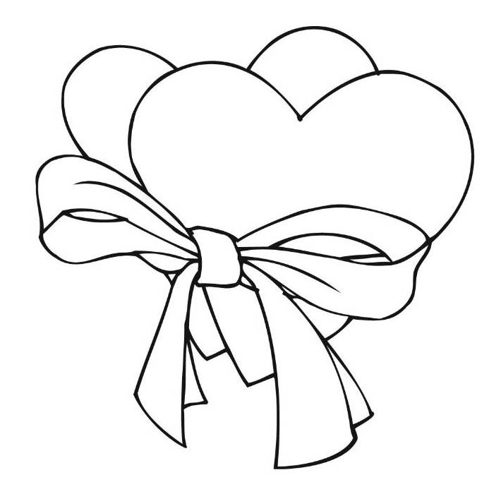 curious george coloring pages - cute heart coloring pages