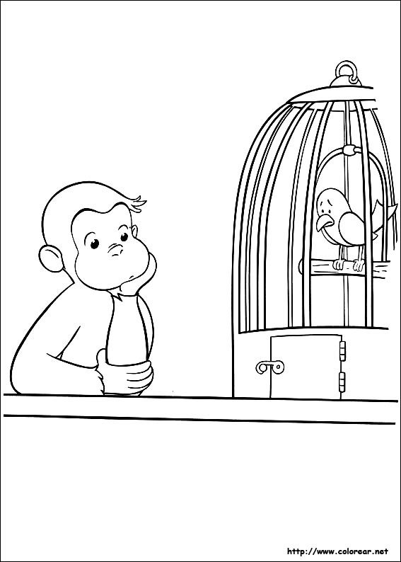 curious george coloring pages - dibujos 7742