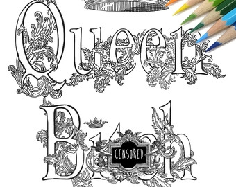 Curse Word Coloring Pages - Adult Coloring Book