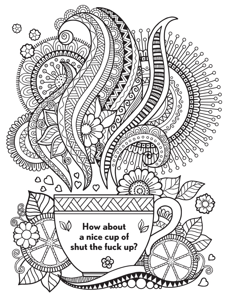 curse word coloring pages - theswearwordcoloringbook