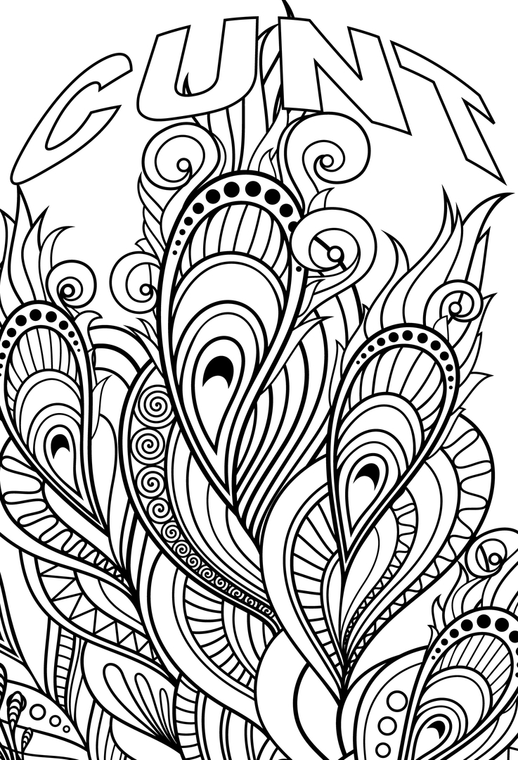 cuss word coloring pages - swear word pictures