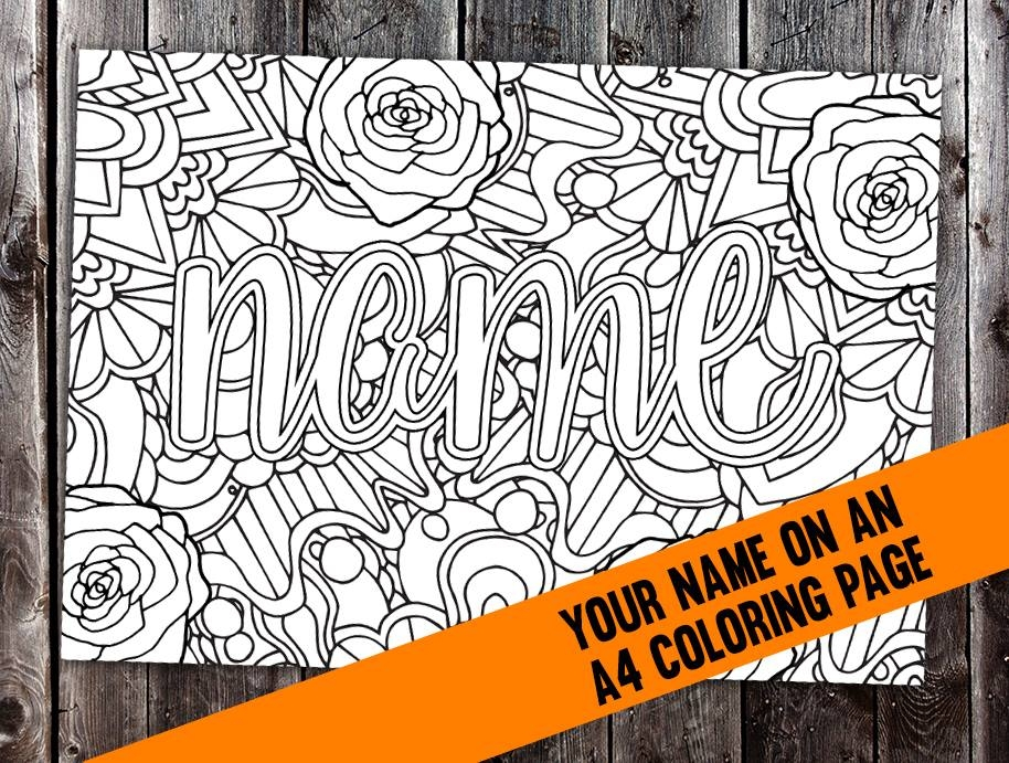 custom name coloring pages - freebie friday 23sep