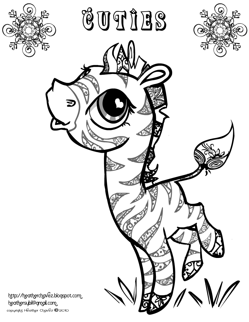 cuties coloring pages - creative cuties coloring page cheetah sketch templates
