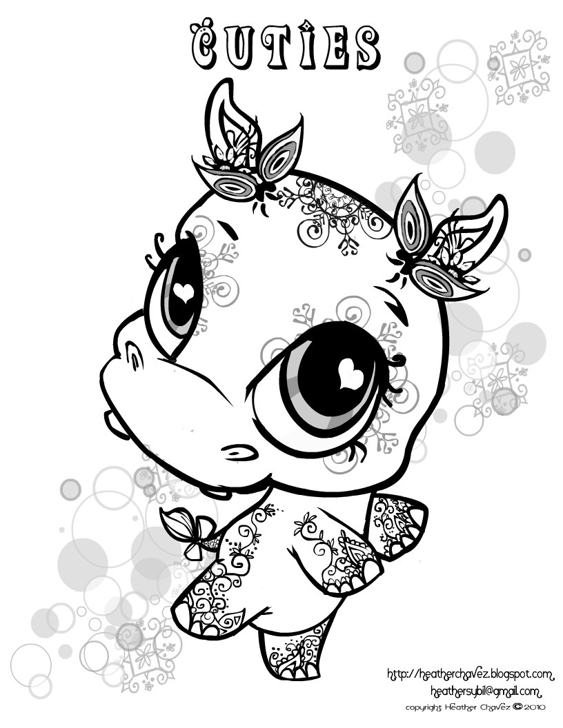 cuties coloring pages - cuties free animal coloring pages