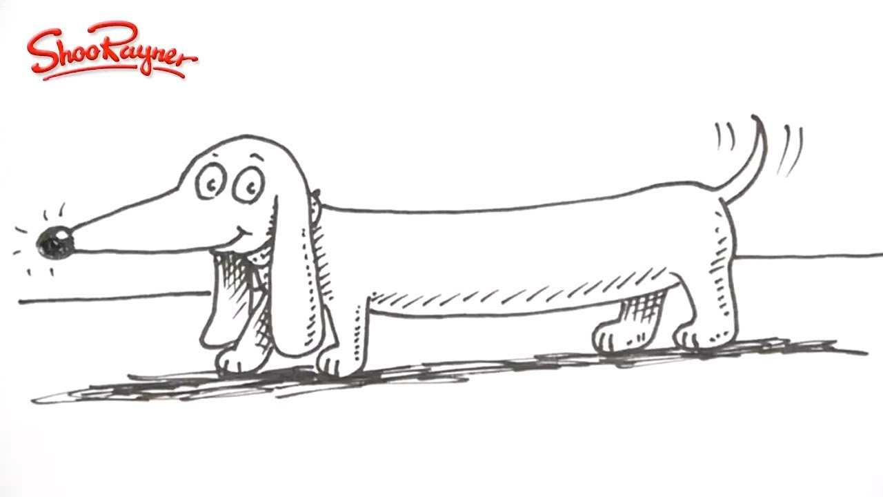 dachshund coloring pages - awesome tutorial draw a cartoon dachshund the easy way