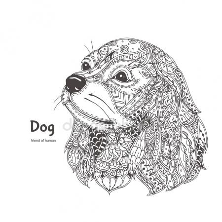 dachshund coloring pages - stock illustration cocker spaniel dog cartoon for