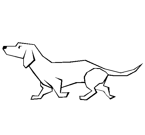 dachshund coloring pages - sausage dog