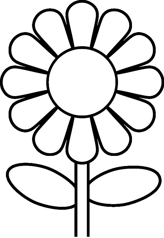 daisy coloring pages - daisy flower coloring page