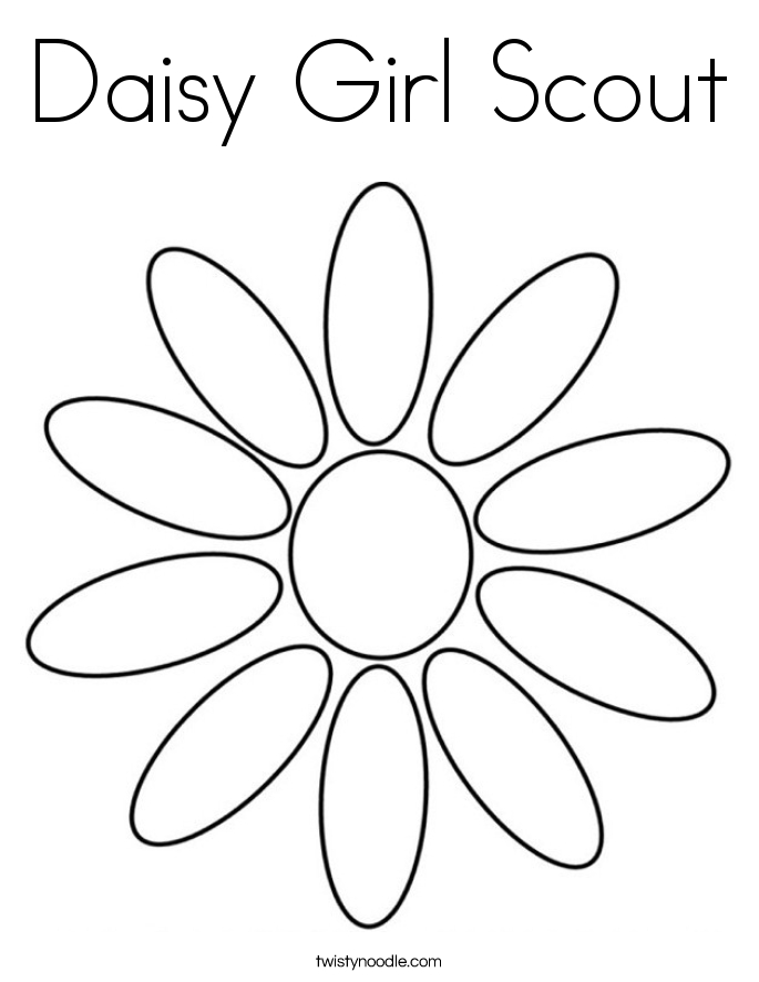 daisy girl scout coloring pages - daisy girl scout coloring page