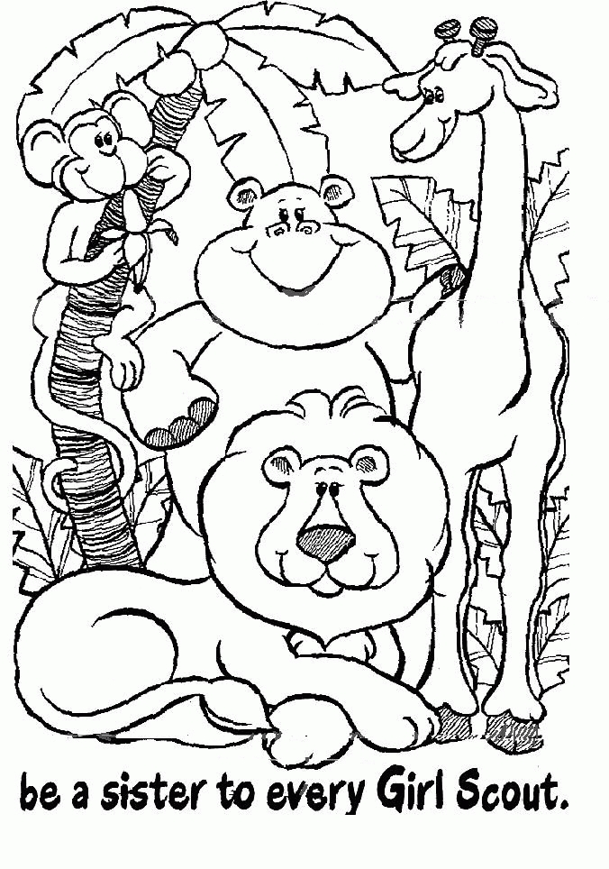 daisy girl scout coloring pages - daisy girl scout coloring pages