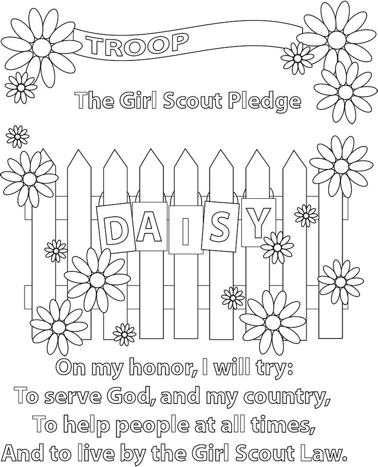 daisy girl scout coloring pages -