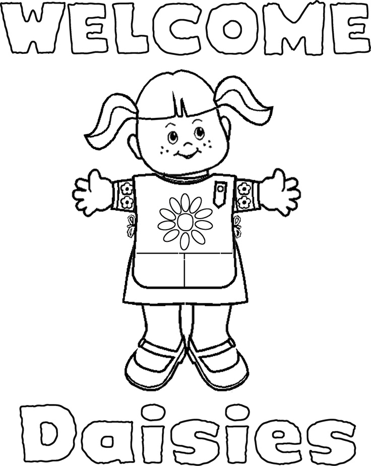 daisy girl scout coloring pages - girl scouts coloring pages