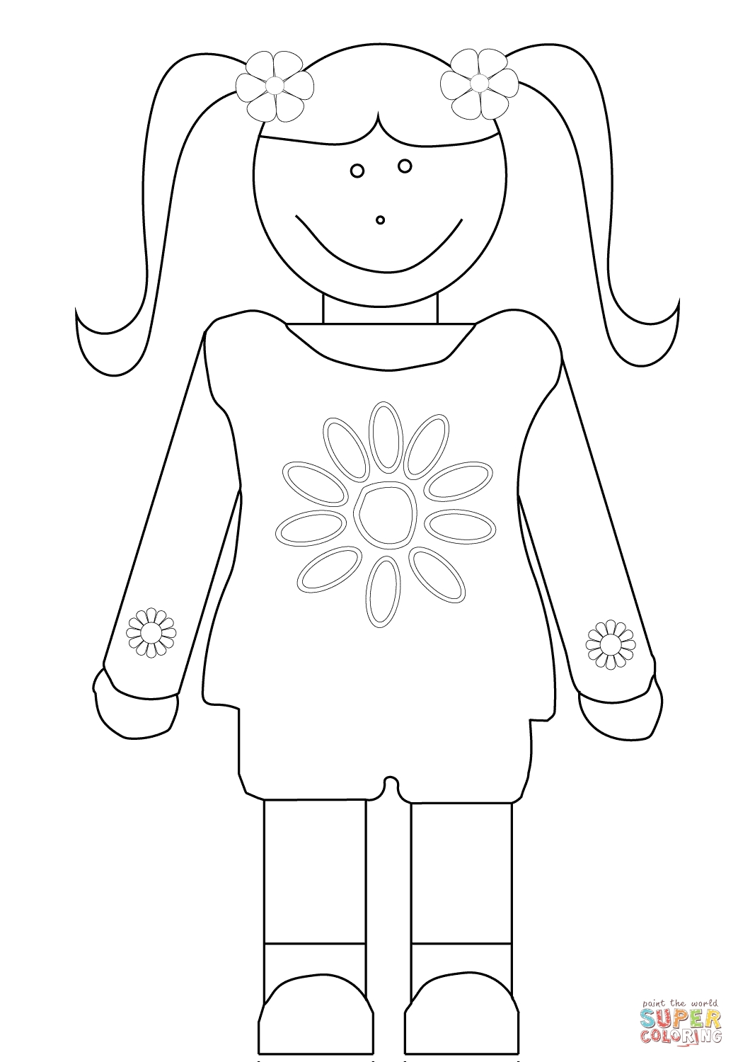 daisy girl scout coloring pages - girl scouts daisy coloring pages