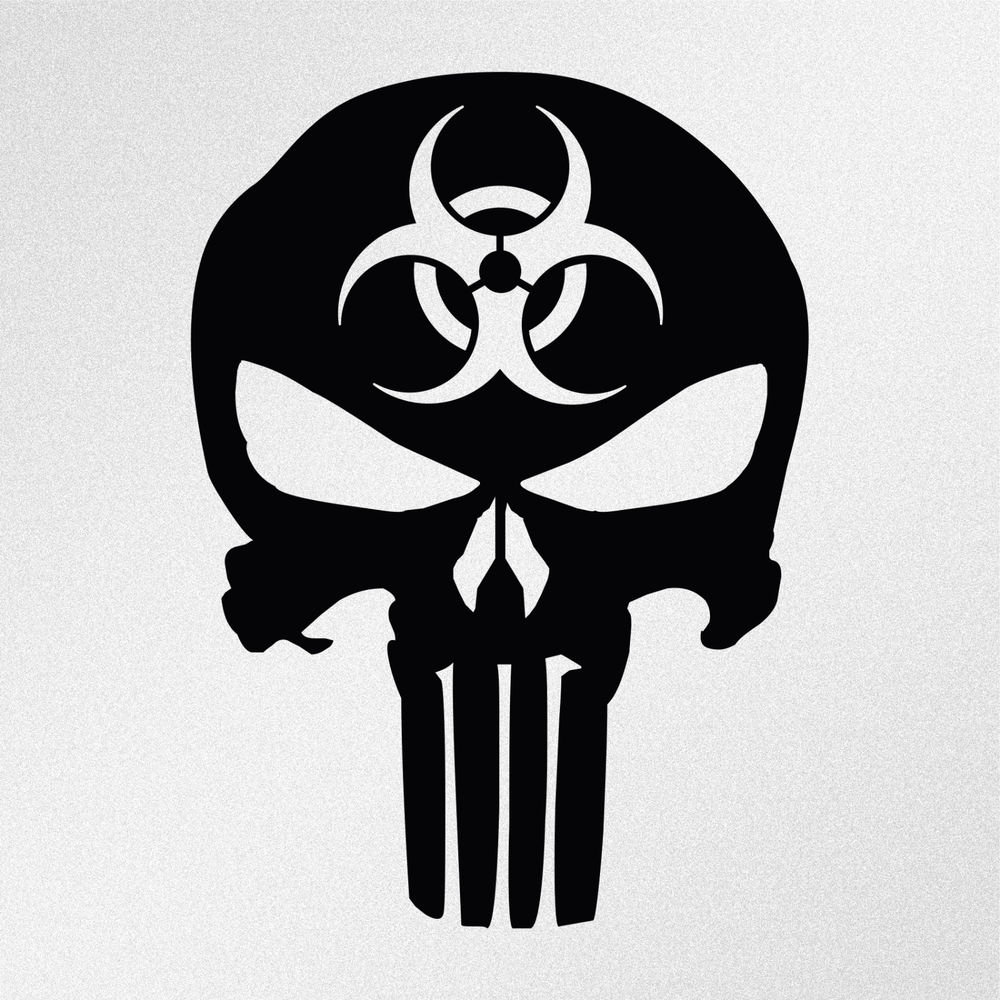 Dallas Cowboys Coloring Pages - Punisher Skull Biohazard Symbol Car Body Window Bumper