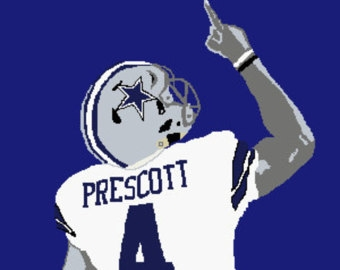 dallas cowboys coloring pages - dak prescott mississippi state football