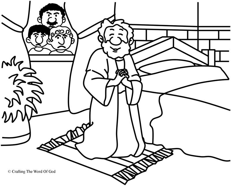daniel and the lions den coloring page - daniel