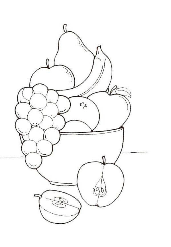 daniel and the lions den coloring page - drawing object fruit coloring page