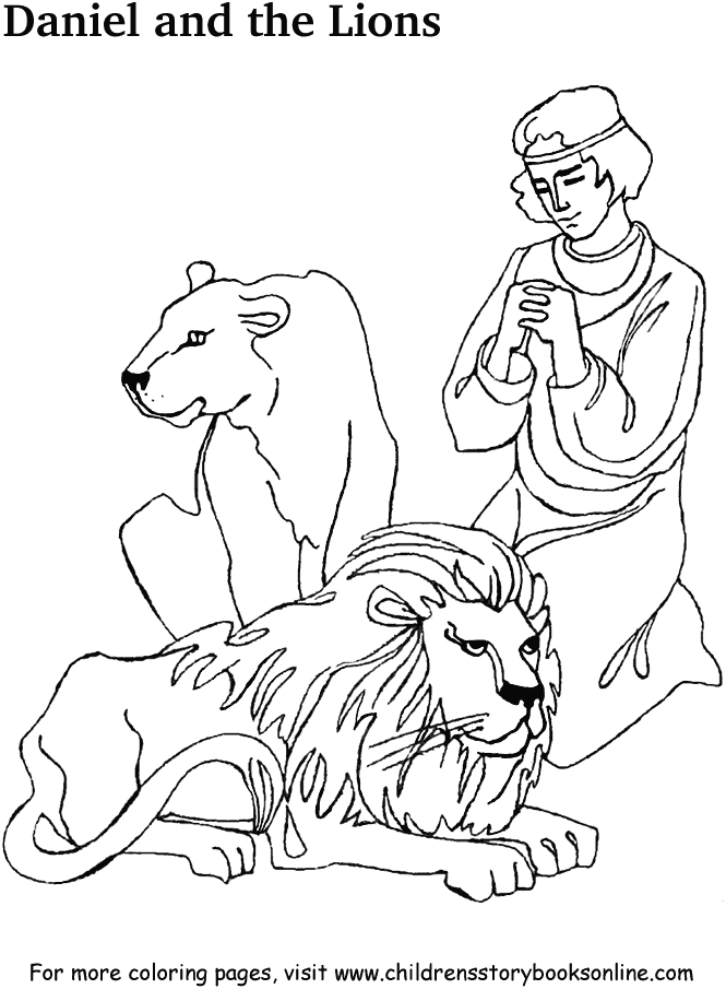 daniel in the lion's den coloring page - baseball printable