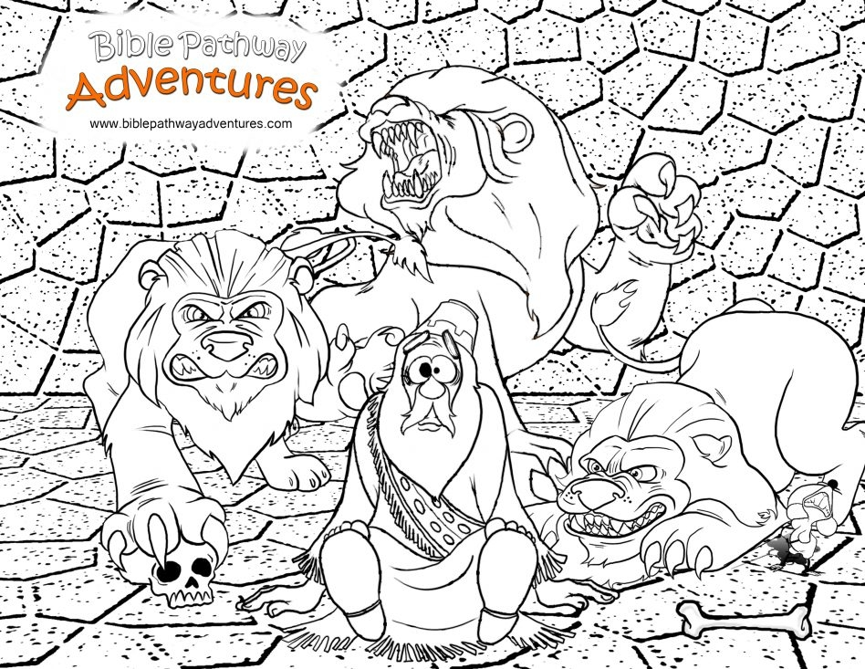 Daniel In the Lion's Den Coloring Page - Coloring Pages A Coloring Page From the Story Thrown to the