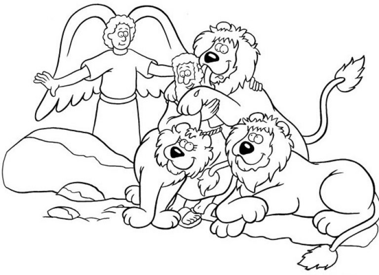 daniel in the lion's den coloring page - simple coloring daniel and the lions den coloring pages on 1000 images about daniel in the lions den on pinterest hand
