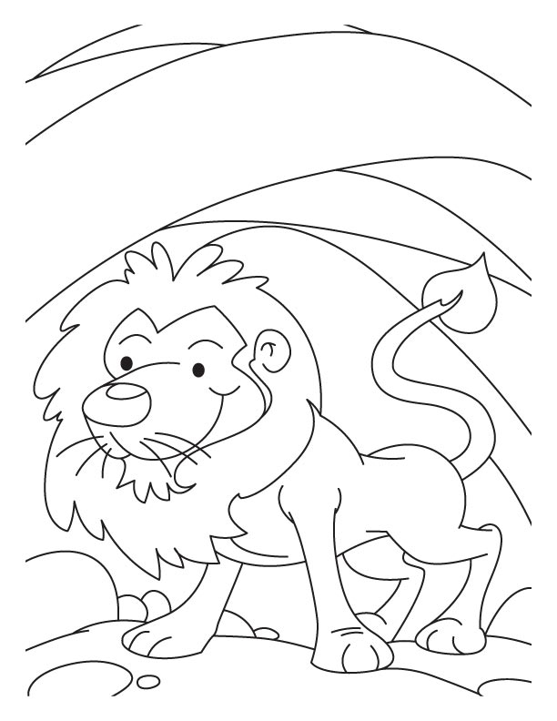 daniel in the lion's den coloring page - free printable coloring pages of daniel in the lions den