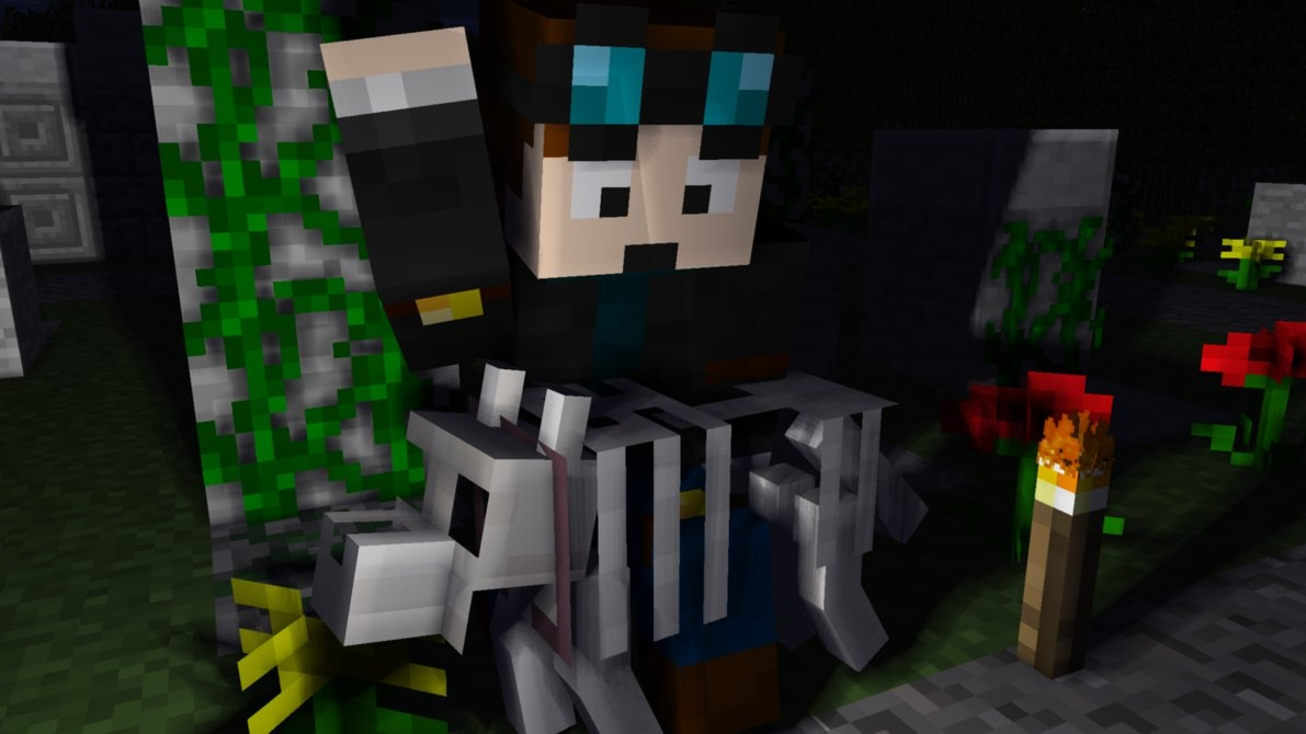 dantdm coloring pages - Minecraft TDM and Grim
