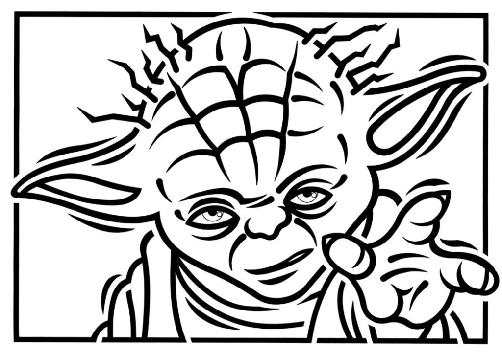 darth maul coloring page - yoda black and white clipart clipart kid