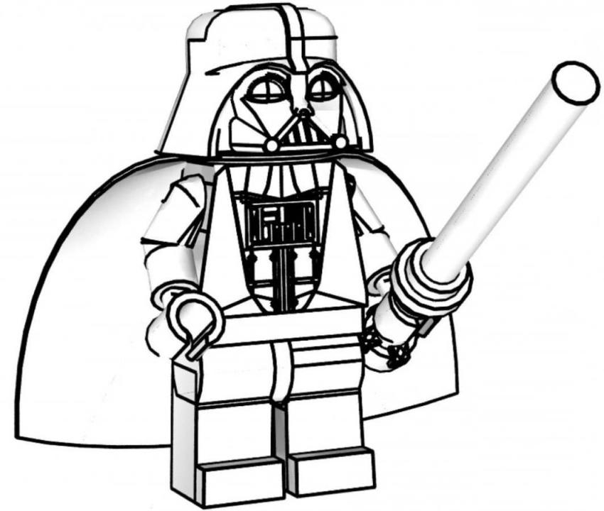 darth vader coloring pages - lego star wars